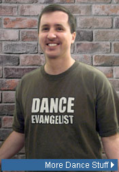 Clint models 'Dance Evangelist' Tee